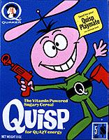Quisp Cereal Box