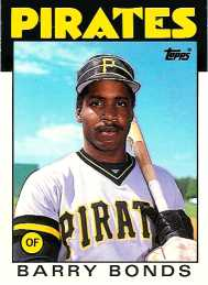 Barry Bonds 1986 Topps Baseball Rookie Card - Front