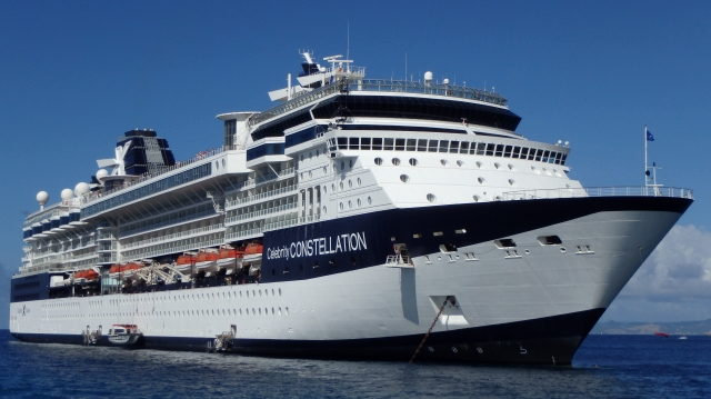 Celebrity Constellation anchored off St. Barts