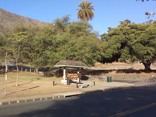 main entrance to Diamond Head Park