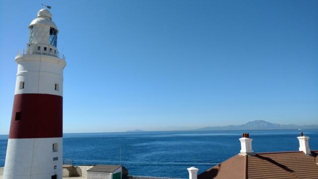 Gibraltar Trinity House Lighthouse and Africa
