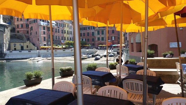 Vernazza Cafe Umbrellas