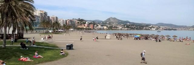 Malaga Beach Near Port