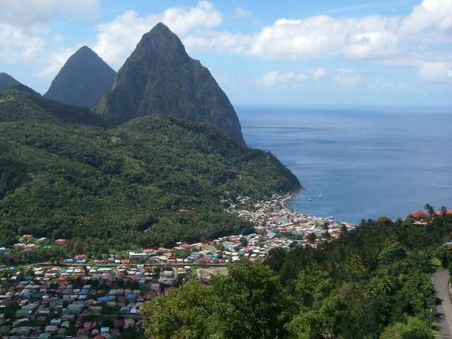 Twin Pitons in St. Lucia
