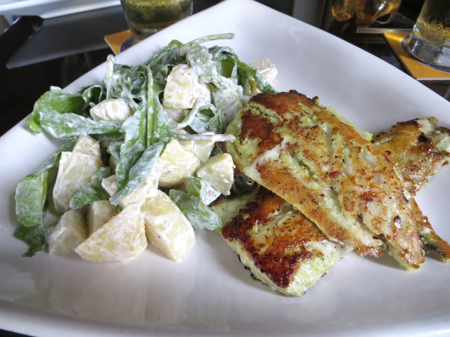 Grilled Baracuda and Rocket Potato Salad at Umbrellas